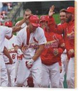 Colorado Rockies V St. Louis Cardinals 5 Wood Print