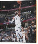 Detroit Pistons V Memphis Grizzlies Wood Print