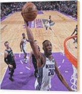 Detroit Pistons V Sacramento Kings Wood Print