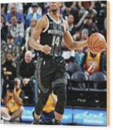 Detroit Pistons V Utah Jazz Wood Print