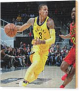 Indiana Pacers V Atlanta Hawks Wood Print