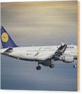 Lufthansa Airbus A319-114 Wood Print
