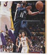 Memphis Grizzlies V Los Angeles Lakers Wood Print