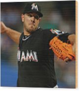 Miami Marlins V New York Mets Wood Print