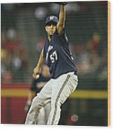 Milwaukee Brewers V Arizona Diamondbacks Wood Print