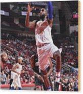 New York Knicks V Houston Rockets Wood Print