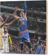 New York Knicks V Indiana Pacers Wood Print