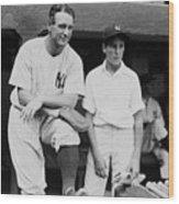 New York Yankees 5 Wood Print