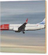Norwegian Boeing 737 Max 8 Wood Print