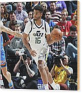 Oklahoma City Thunder V Utah Jazz Wood Print