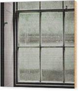 Old Window Frame Wood Print