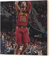 Philadelphia 76ers V Cleveland Cavaliers Wood Print
