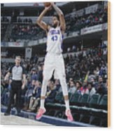Philadelphia 76ers V Indiana Pacers Wood Print