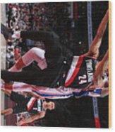 Philadelphia 76ers V Portland Trail Wood Print