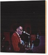 Photo Of Ray Charles Wood Print