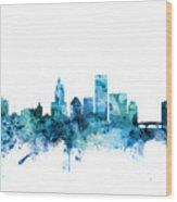 Providence Rhode Island Skyline Wood Print