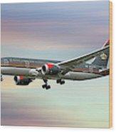 Royal Jordanian Boeing 787-8 Dreamliner Wood Print