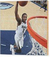Sacramento Kings V Memphis Grizzlies Wood Print