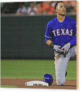 Texas Rangers V Baltimore Orioles Wood Print