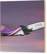 Thai Airways Airbus A380-841 Wood Print