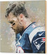 Tom Brady.new England Patriots. Wood Print