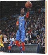 Utah Jazz V Oklahoma City Thunder Wood Print