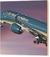 Vietnam Airlines Airbus A350 Wood Print