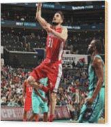 Washington Wizards V Charlotte Hornets Wood Print