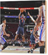 Washington Wizards V Philadelphia 76ers Wood Print