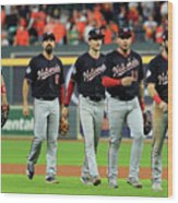 World Series - Washington Nationals V Wood Print