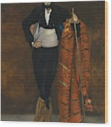 Young Man In The Costume Of A Majo  Wood Print
