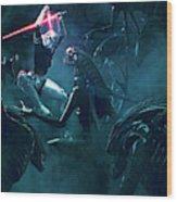 501 Vs Aliens 3 Wood Print