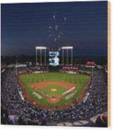 Alcs - Baltimore Orioles V Kansas City Wood Print