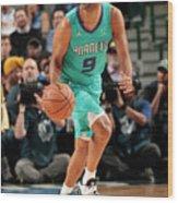 Charlotte Hornets V Dallas Mavericks Wood Print