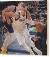 Dallas Mavericks V Denver Nuggets Wood Print