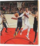 Denver Nuggets V Portland Trail Blazers Wood Print
