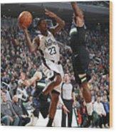 La Clippers V Milwaukee Bucks Wood Print