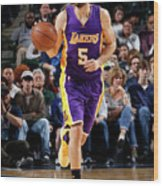 Los Angeles Lakers V Dallas Mavericks Wood Print