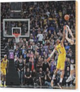 Los Angeles Lakers V Sacramento Kings Wood Print