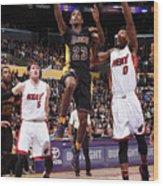 Miami Heat V Los Angeles Lakers Wood Print