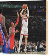 Miami Heat V Philadelphia 76ers Wood Print