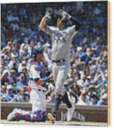 Milwaukee Brewers V Chicago Cubs 6 Wood Print