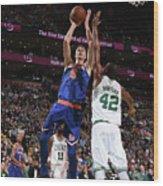New York Knicks V Boston Celtics Wood Print