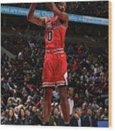 New York Knicks V Chicago Bulls Wood Print