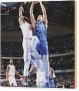New York Knicks V Dallas Mavericks Wood Print
