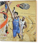 Oklahoma City Thunder V New Orleans Wood Print