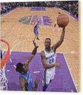 Orlando Magic V Sacramento Kings Wood Print