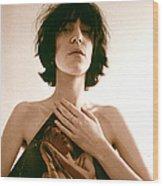 Patti Smith Portrait Session Wood Print