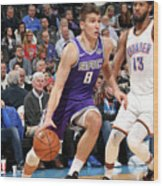 Sacramento Kings V Oklahoma City Thunder Wood Print