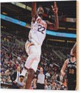 San Antonio Spurs V Phoenix Suns Wood Print